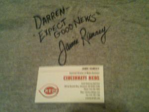 Jamie Ramsey autograph